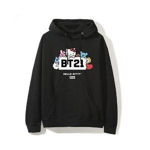 BT21 X Hello Kitty Block Black Hoodie